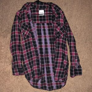 Maroon/Black Flannel